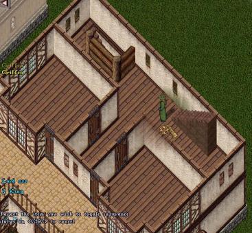 动画欧式房屋天台